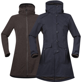 Bergans Bjerke 3in1 Coat Women Outer:Dark Navy/Inner:Cocoa Mel